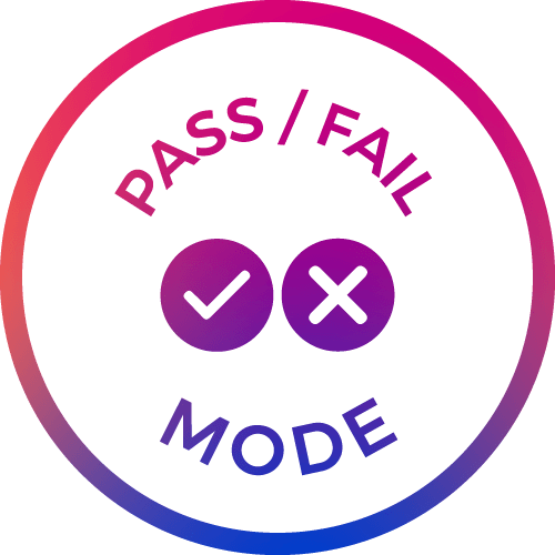 pass/fail mode