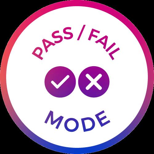 pass/fail mode