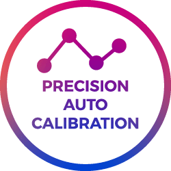 precision calibration points icon