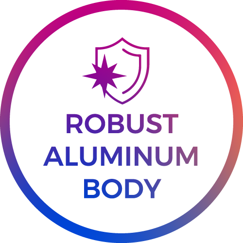 robust aluminium body