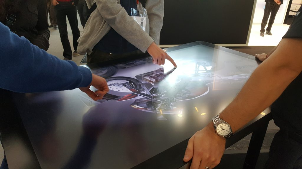 Zytronics interactive touch table